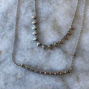 F21 rhinestone charm necklace set